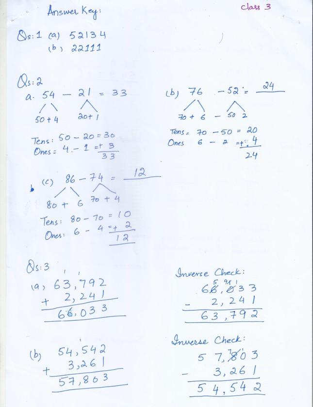 Class 3 Home Work Worksheets – Worksheet for Class 3 Maths