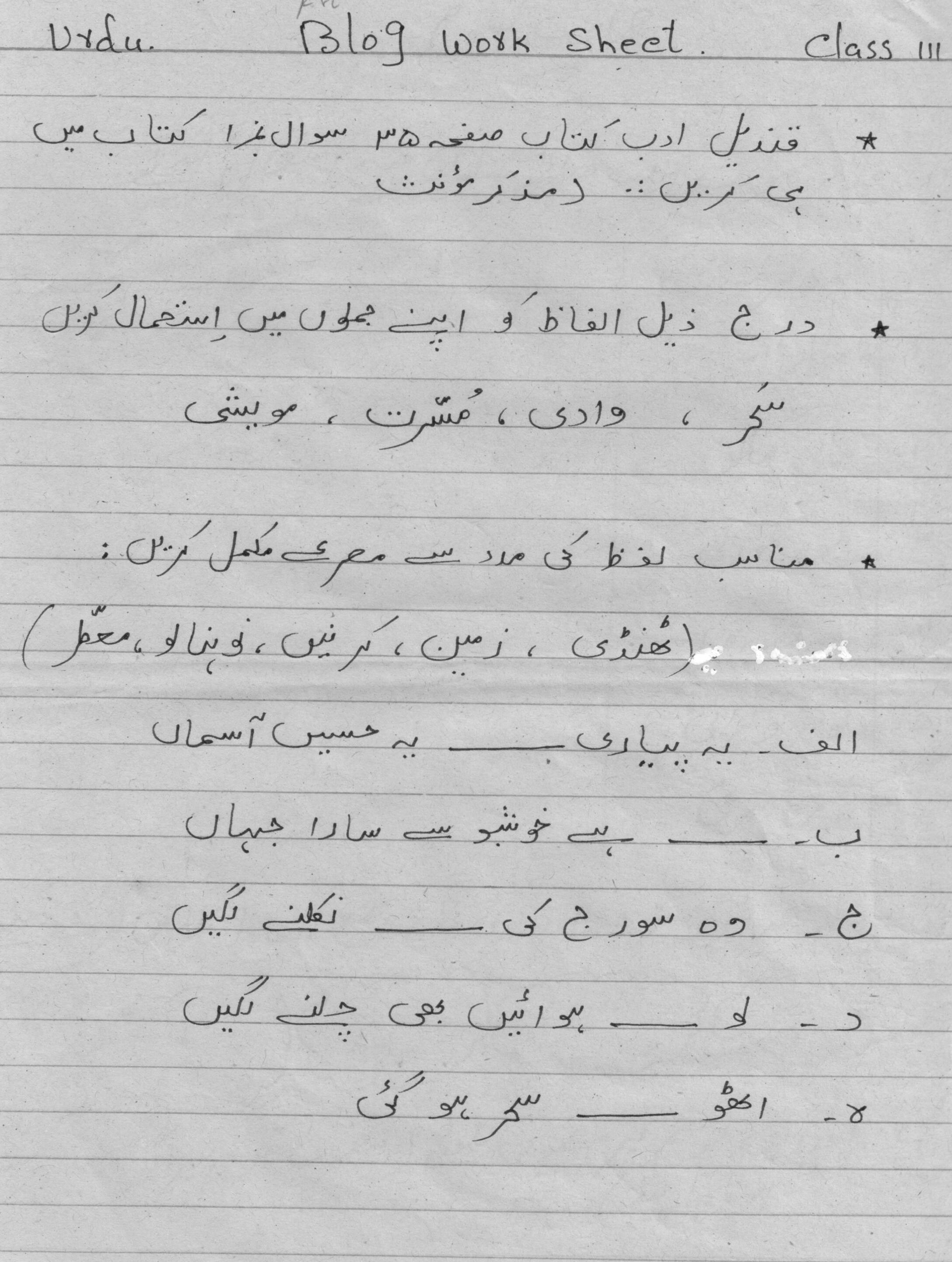 my school essay in urdu language